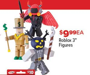 "GameStop Black Friday: Roblox 3"" Figures for $9.99"