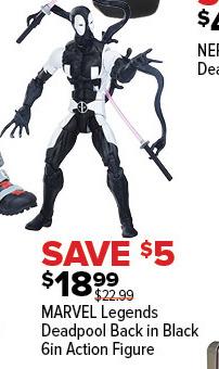 GameStop Black Friday: Marvel Legends Deadpool Back In Black 6in Action Figure for $18.99