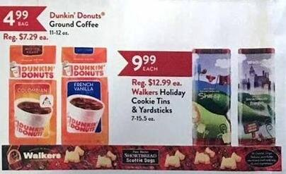 Christmas Tree Shops Black Friday: Walkers Holiday Cookie Tins and Yardsticks for $9.99