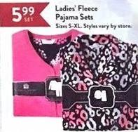 Christmas Tree Shops Black Friday: Ladies' Fleece Pajama Sets for $5.99