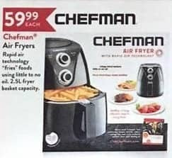 Christmas Tree Shops Black Friday: Chefman Air Fryers for $59.99