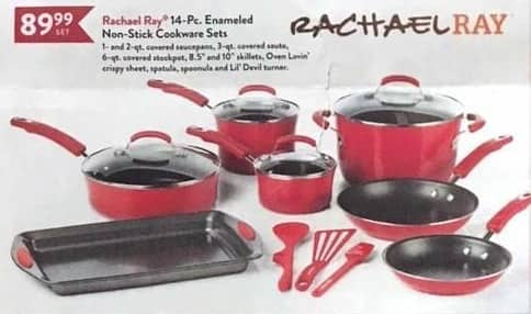 Christmas Tree Shops Black Friday: Rachael Ray 14-pc. Enameled Non-Stick Cookware Sets for $89.99