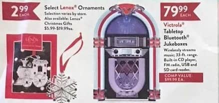Christmas Tree Shops Black Friday: Victrola Tabletop Bluetooth Jukeboxes for $79.99