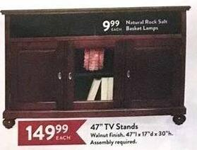 Christmas Tree Shops Black Friday: Natural Rock Salt Basket Lamp for $9.99