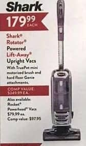 Christmas Tree Shops Black Friday: Shark Rotator Powered Lift-Away Upright Vacuum for $179.99