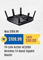 TigerDirect Black Friday: TP-Link Archer AC3200 Wireless Tri-Band Gigabit Router for $109.99