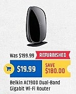 TigerDirect Black Friday: Belkin AC1900 Dual-Band Gigabit Wi-Fi Router for $19.99
