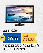 """TigerDirect Black Friday: ADC E24255WD 24"""" Class Full HD LED Monitor for $79.99"""