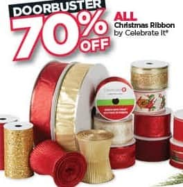 Michaels Black Friday: All Celebrate It Christmas Ribbon - 70% Off