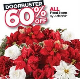 Michaels Black Friday: All Ashland Floral Stems - 60% Off