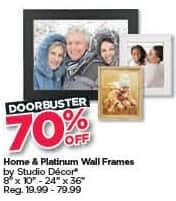 Michaels Black Friday: Home and Platinum Wall Frames - 70% Off
