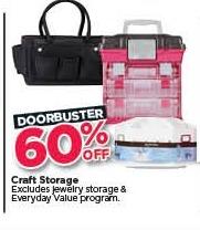 Michaels Black Friday: Craft Storage - 60% Off