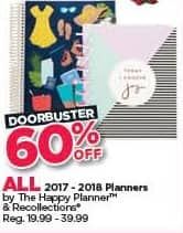 Michaels Black Friday: All 2017-2018 The Happy Planner Planners - 60% Off
