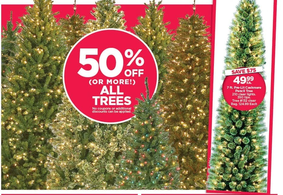 Michaels Black Friday: All Trees - 50% Off
