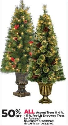 michaels black friday all ashland accent trees and 4 ft 5 - Michaels Christmas Trees Pre Lit