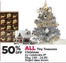 Michaels Black Friday: All Tiny Treasures Christmas - 50% Off