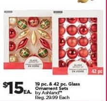 Michaels Black Friday: Ashland 19-pc. and 42-pc. Glass Ornament Sets for $15.00