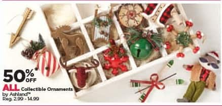 Michaels Black Friday: All Ashland Collectible Ornaments - 50% Off