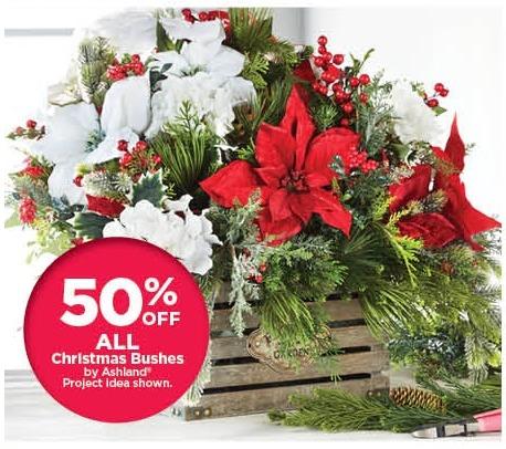 Michaels Black Friday: All Ashland Christmas Bushes - 50% Off