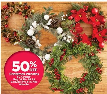 Michaels Christmas.Michaels Black Friday All Ashland Christmas Wreaths 50