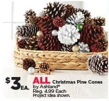 Michaels Black Friday: All Ashland Christmas Pine Cones for $3.00