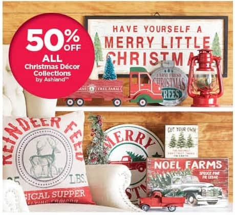 Michaels Black Friday: Ashland Christmas Decor Collections - 50% Off