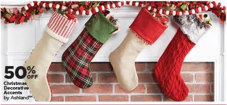 Michaels Black Friday: Ashland Christmas Decorative Accents - 50% Off