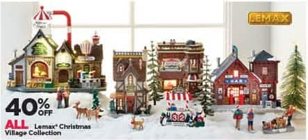 Michaels Black Friday: All Lemax Christmas Village Collection - 40% Off