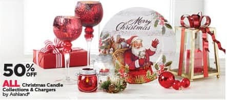 Michaels Black Friday: All Ashland Christmas Candle Collections and Chargers - 50% Off