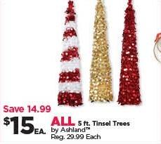 Ashland Christmas Trees.Michaels Black Friday All Ashland 5 Ft Tinsel Trees For