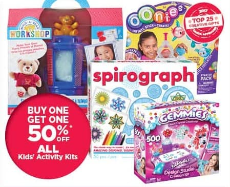 Michaels Black Friday: All Kids' Activity Kits - B1G1 50% Off