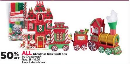 Michaels Black Friday: All Creatology Christmas Kids' Craft Kits - 50% Off