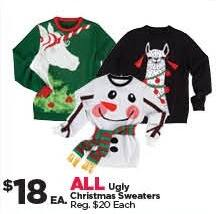 Michaels Black Friday: All Ugly Christmas Sweaters for $18.00