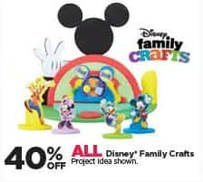 Michaels Black Friday: All Disney Family Crafts - 40% Off