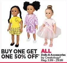 Michaels Black Friday: All Creatology Dolls and Accessories - B1G1 50% Off