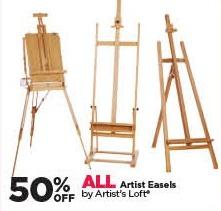 Michaels Black Friday: All Artist's Loft Artist Easels - 50% Off