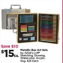 Michaels Black Friday: Artist's Loft Metallic Box Art Sets for $15.00