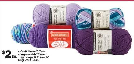 Michaels Black Friday: Loops & Threads Craft Smart Yarn or Impeccable Yarn for $2.00