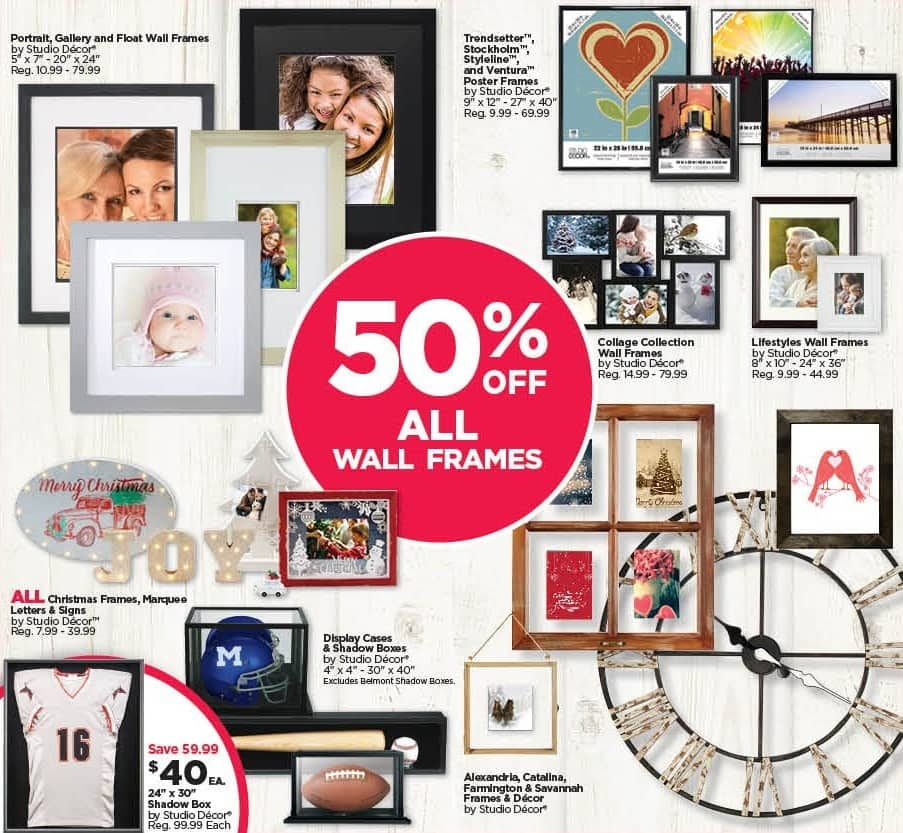 Michaels Black Friday: All Wall Frames - 50% Off