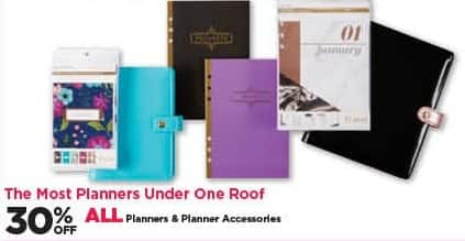 Michaels Black Friday: All Planners and Planner Accessories - 30% Off