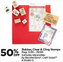 Michaels Black Friday: Rubber, Clear and Cling Stamps - 50% Off