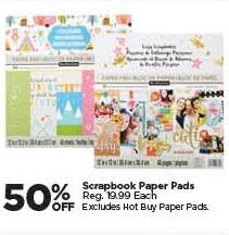 Michaels Black Friday: Scrapbook Paper Pads - 50% Off