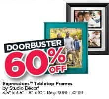 Michaels Black Friday: Studio Decor Expressions Tabletop Frames - 60% Off