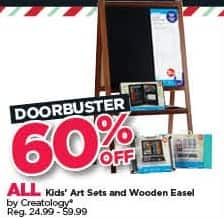 Michaels Black Friday: All Creatology Kids' Art Sets and Wooden Easel - 60% Off