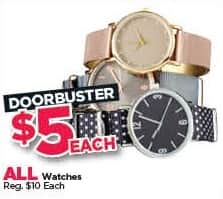 Michaels Black Friday: All Watches for $5.00