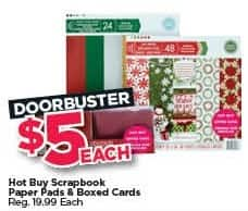 Michaels Black Friday: Hot Buy Scrapbook Paper Pads and Boxed Cards for $5.00