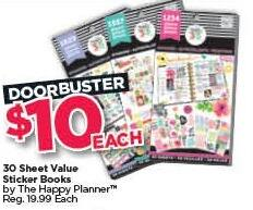 Michaels Black Friday: The Happy Planner 30-sheet Value Sticker Books for $10.00
