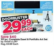 Michaels Black Friday: Artist's Loft 101-pc. Complete Easel & Portfolio Art Set for $29.99