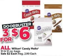 Michaels Black Friday: (3) All Wilton Candy Melts for $6.00