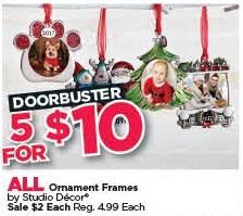 Michaels Black Friday: (5) All Studio Decor Ornament Frames for $10.00